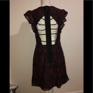 Beautiful burgundy and black dress